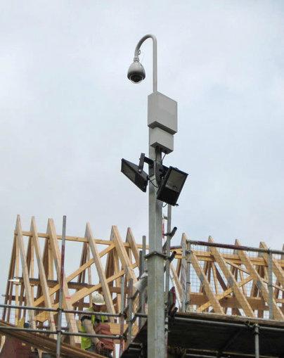 Overvåkningskamera for byggeplass
